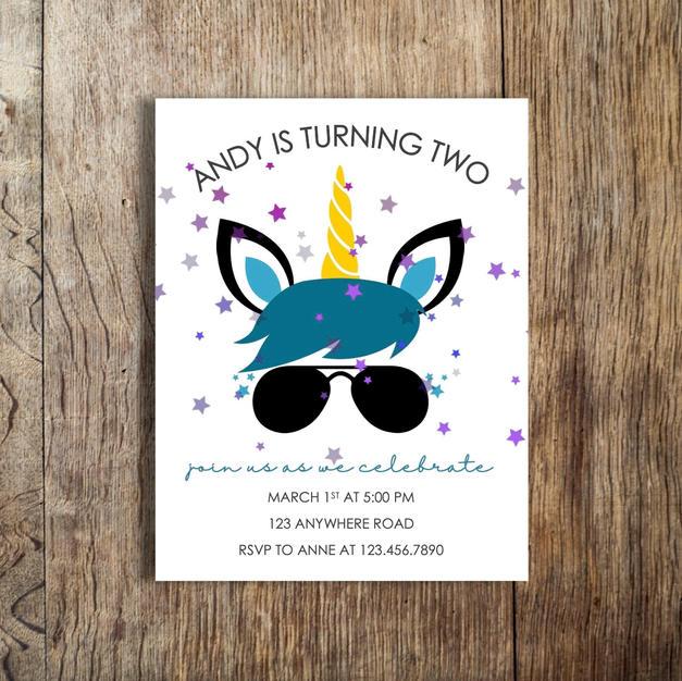 andy unicorn birthday