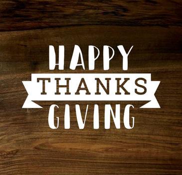 happy thanksgiving (wood panel)
