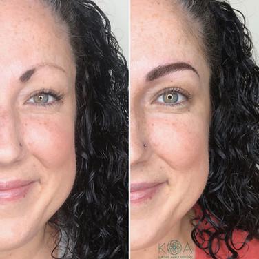 Combination Eyebrow Procedure: Microblading plus Shading