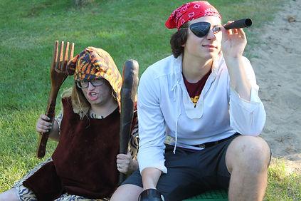 Camp staff dressed in fun costumes