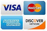 Visa, MasterCard, Amex and Discover
