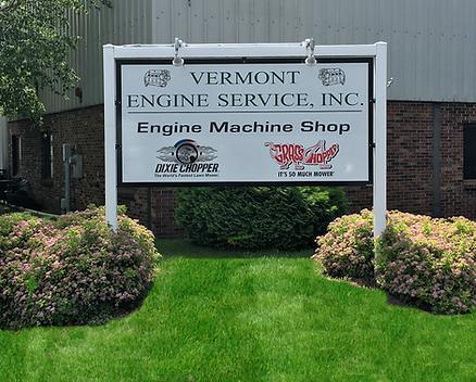 Vermont Engine Service Sign