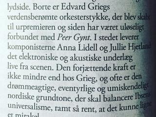 Weekendavisen reviews Peer Gynt