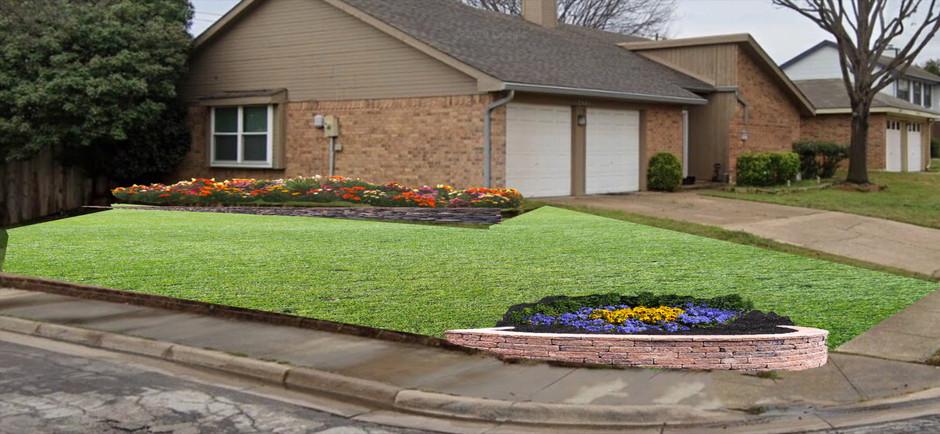 Flower Bed Design Euless, TX