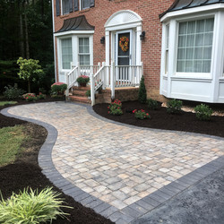 front walk and Landscaping