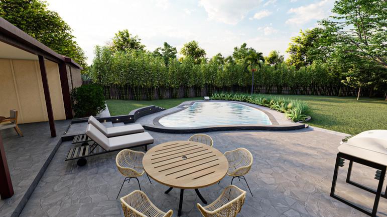 Backyard Landscape Design, Bedford, TX