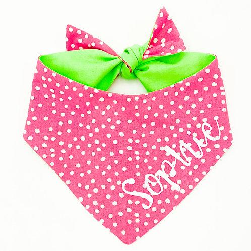 Pink Polka Dots Bandana