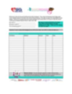 Cardboard For Kitty Sponsorship Sheet -