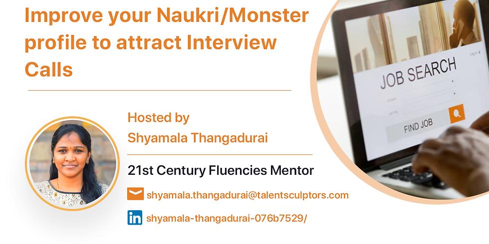 Improve your Naukri profile to attract Interview Calls