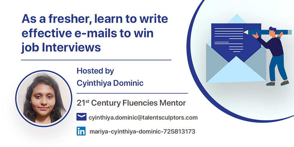 As a fresher, learn to write effective E-mails to win job Interviews