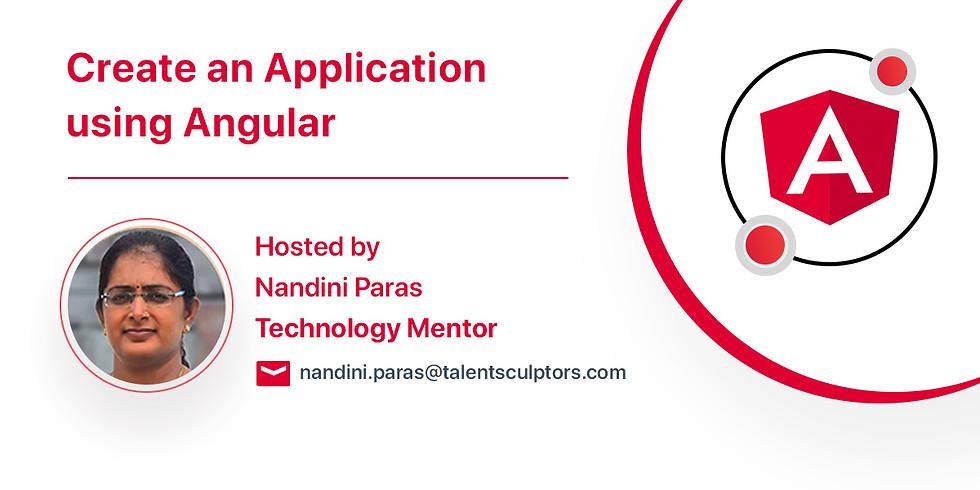 Create an Application using Angular
