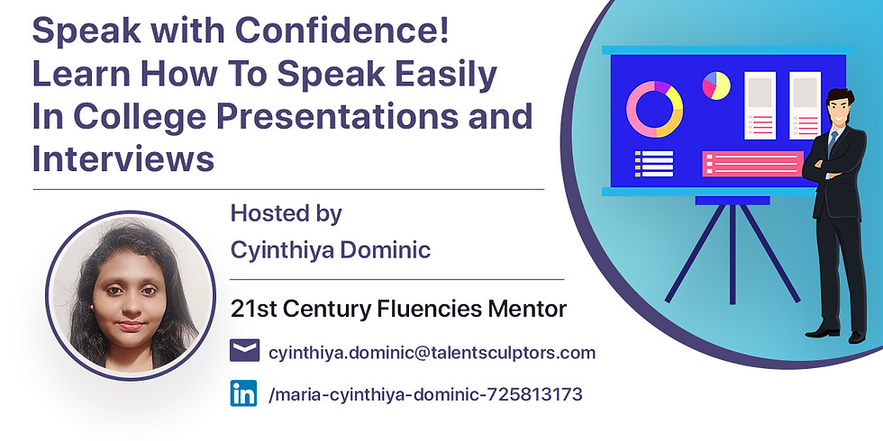 Speak With Confidence   Learn How To Speak Easily at College Presentations and Interviews