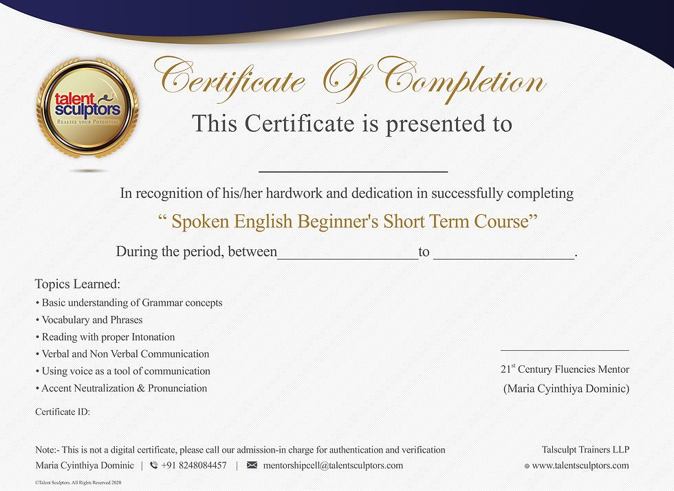 Spoken Englis Certificate for Website.pn