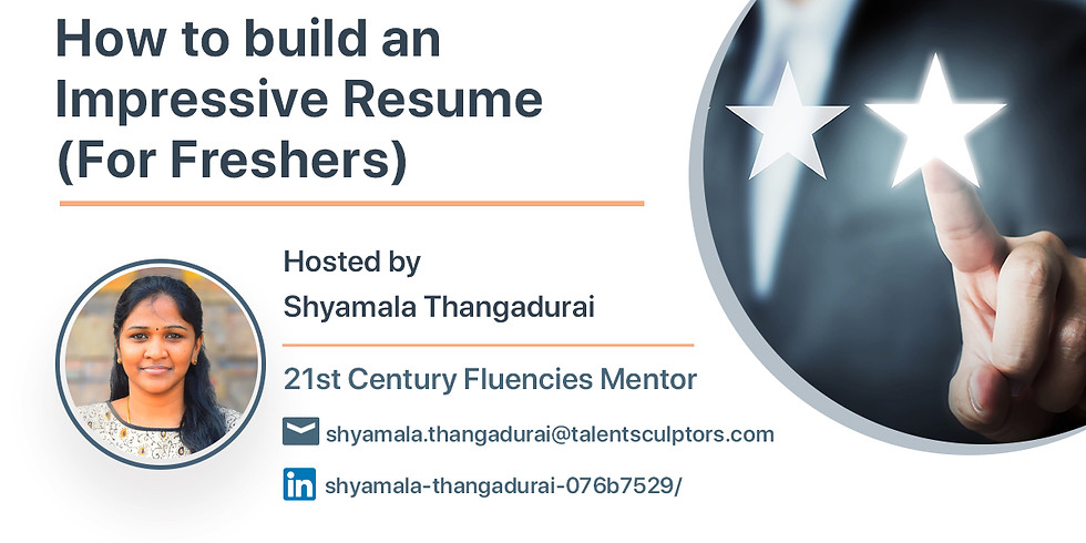 How to build an Impressive Resume(For Freshers)