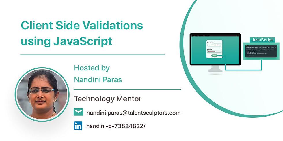 Client Side Validations using JavaScript