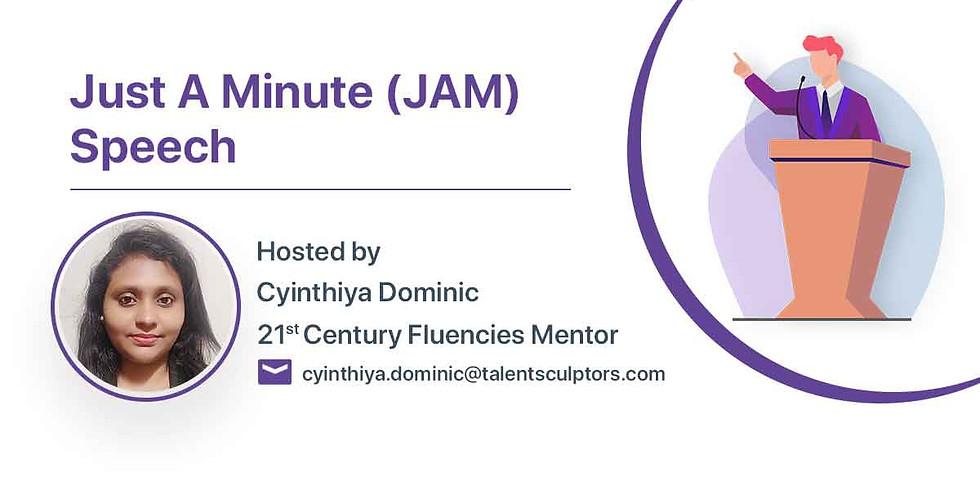 Just A Minute  (JAM) Speech