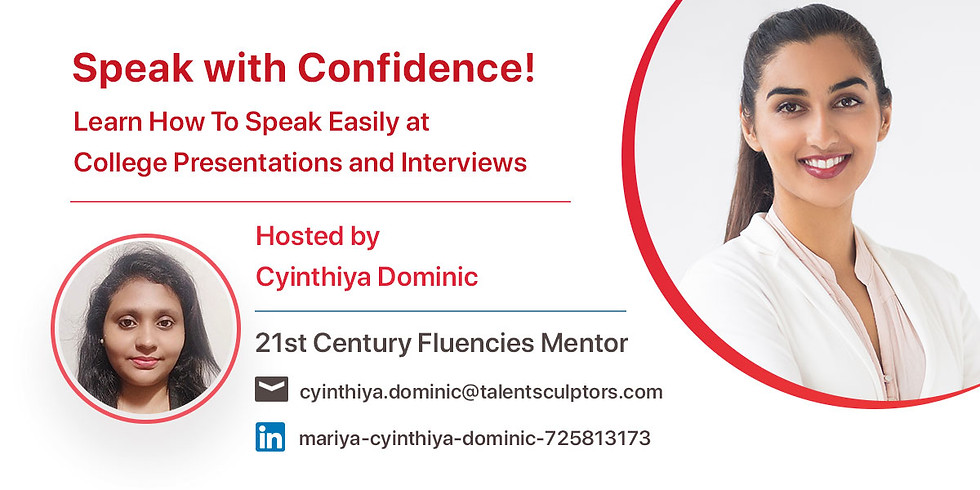 Speak With Confidence | Learn How To Speak Easily at College Presentations and Interviews