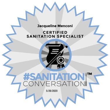 Sanitation Conversation Certificate