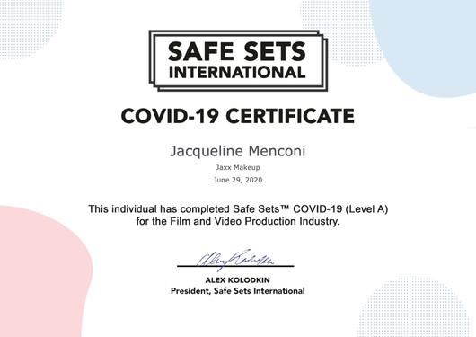 Safe Sets Certificate
