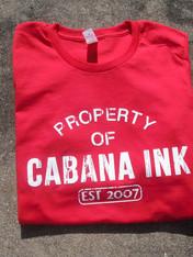 custom printed apparel, screen printing, t-shirts, shirts, printed shirt, printing, cabana inc, cabana ink, cabana ink studio