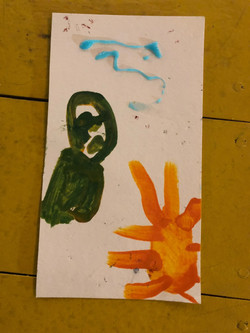 Art created by kids at Advocacy Thru FAM