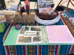 Advocacy Thru FAM booth at Alley Art Fes