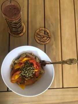 juice and deconstructed vegan pasta.jpg