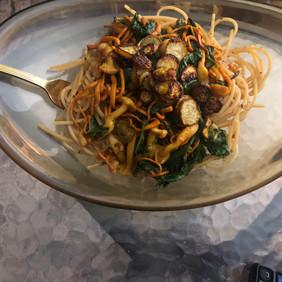 golden thread mushroom and turnip chips.