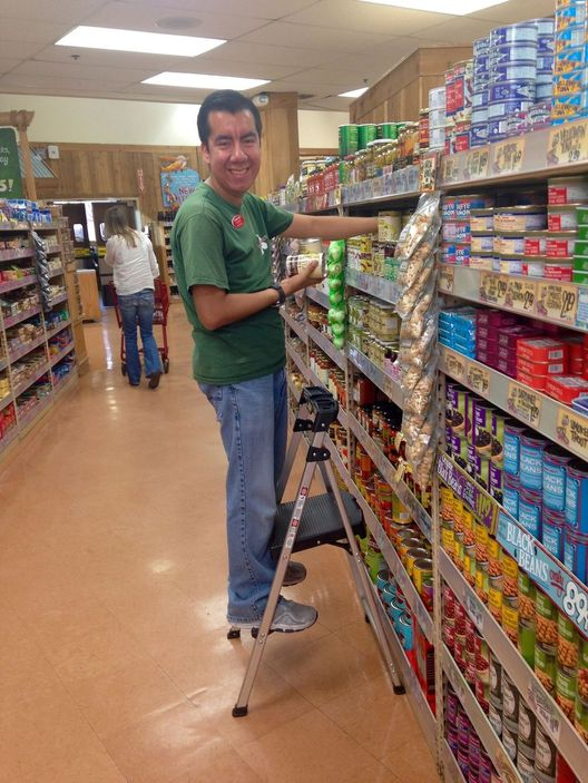 Steven helping Trader Joe's