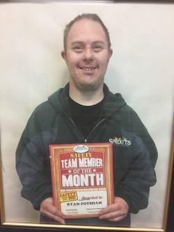 Ryan team member of the month