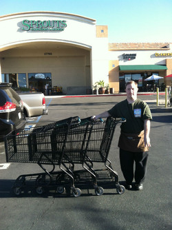 Ryan working at sprouts