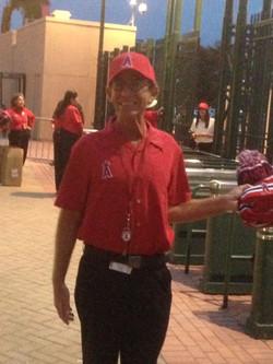 Pat working at Angels Stadium