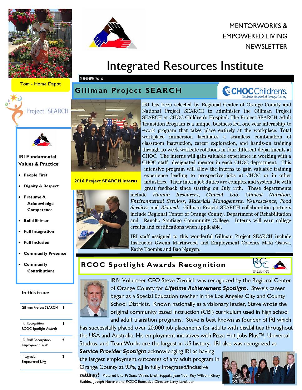 IRI Newsletter