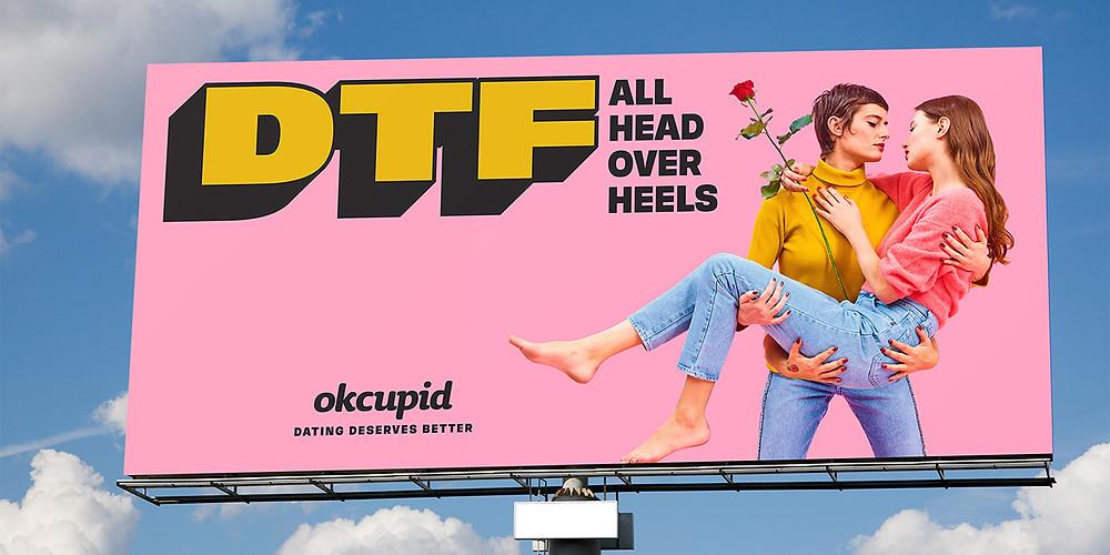 Billboard for the ad campaign