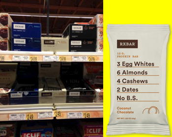RxBar on store shelves in Wegmans