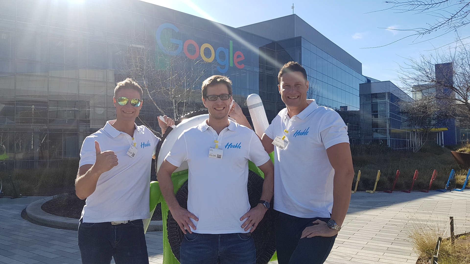 GooglePlex in Palo Alto Jan 2018. From left: Jere Seppala, Juha Uotila, and Tero Seppala