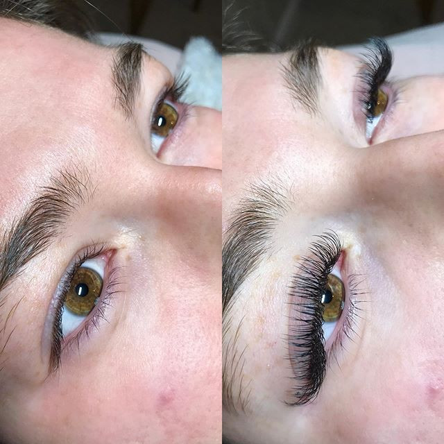 Lash extensions give the illusion of rea