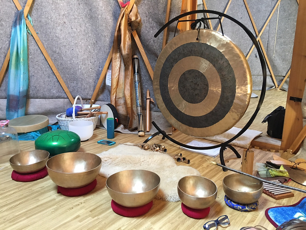 Just some of the instruments used for our Soundbath.