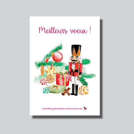 Carte de voeux de Noël Casse Noisette