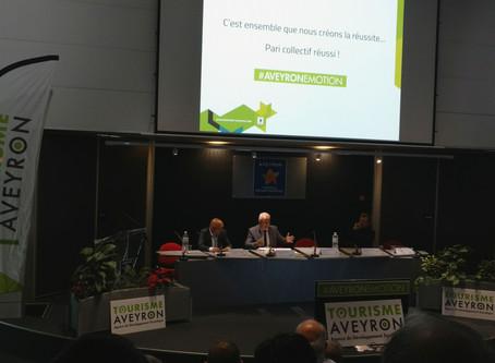 Aujourd'hui Assemblée générale de l'Agence du développement du tourisme d'Aveyron.