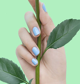 Blue Nails on Green