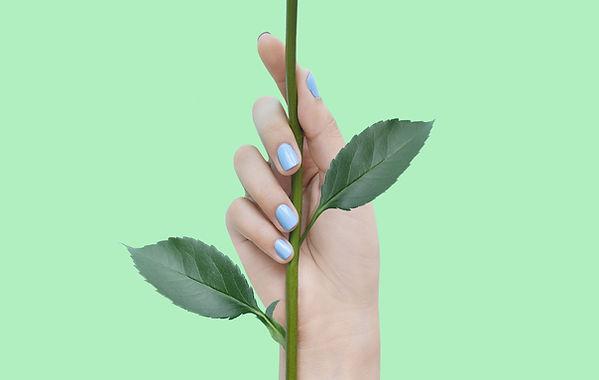 Azul Nails en verde