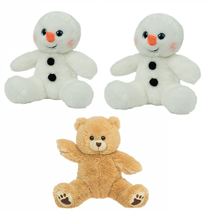 TWO Build a snowman  and ONE Build a bear kits