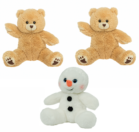 TWO Build a bear and ONE Build a snowman kits
