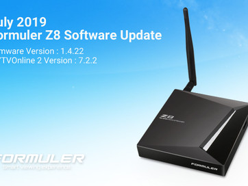 July 2019 Formuler Z8 Software Update