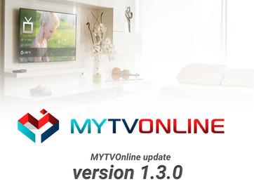 MYTVOnline Version 1.3.0 Update