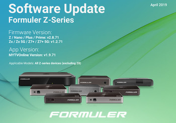 April 2019 Z-Series Software Update