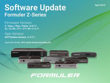 April 2019 Z-Series Software Update