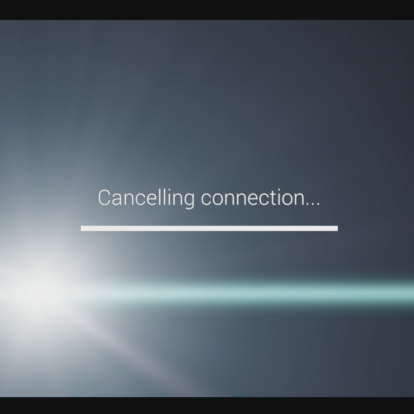cancelling connection