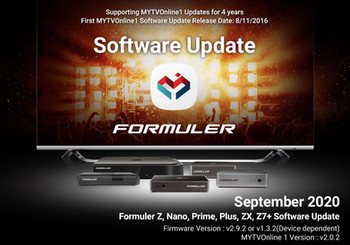 September 2020 MYTVOnline 1 Software Update